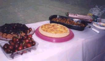 Desserts at a previous picnic
